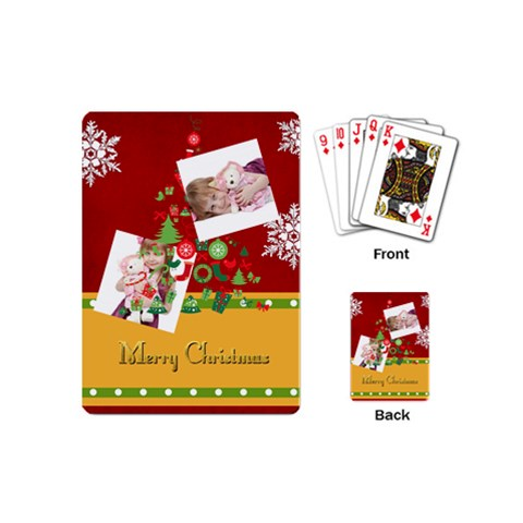 Merry Christmas By Jo Jo   Playing Cards (mini)   9bhna14gri8b   Www Artscow Com Back