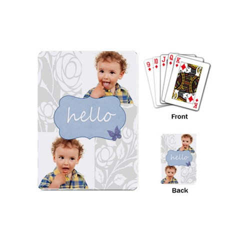 Merry Christmas By Jo Jo   Playing Cards (mini)   Nxumf7c07bb1   Www Artscow Com Back
