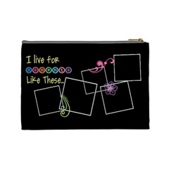 I Live For Moments Like These  By Digitalkeepsakes   Cosmetic Bag (large)   2ppq12vec2sw   Www Artscow Com Back