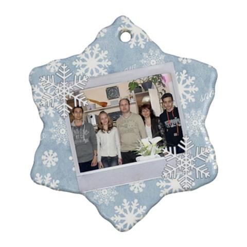 Sneginka 1 By Dimana Genova   Ornament (snowflake)   Hjw9o6lwjums   Www Artscow Com Front