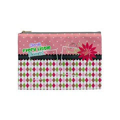 Cherish Every Little Moment  By Digitalkeepsakes   Cosmetic Bag (medium)   N1p94q21y8jx   Www Artscow Com Front