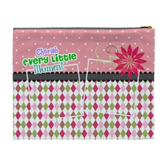 Cherish Every Little Moment  By Digitalkeepsakes   Cosmetic Bag (xl)   1430wc4p6qer   Www Artscow Com Back
