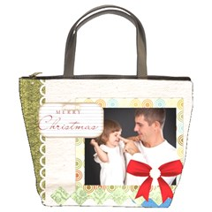 Merry Christmas By Jo Jo   Bucket Bag   Qus66g8x6l6n   Www Artscow Com Front