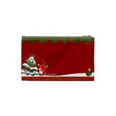 Christmas  By Joanne5   Cosmetic Bag (small)   Zwx1f0eys004   Www Artscow Com Back