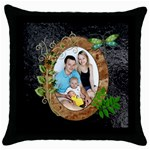 Nature Lover Throw Pillow Case - Throw Pillow Case (Black)