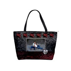 Red Black Classic Shoulder Handbag By Lil    Classic Shoulder Handbag   Vu5s6pwqsyh0   Www Artscow Com Front