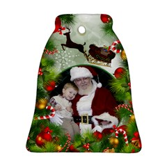 Santa Bell Ornament (2 Sided) By Deborah   Bell Ornament (two Sides)   1yv6awkqebew   Www Artscow Com Front