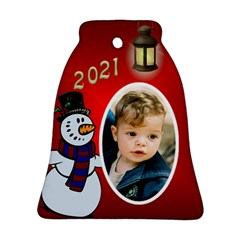 Snowman 2016 Bell Ornament (2 Sided) By Deborah   Bell Ornament (two Sides)   89u8104py06t   Www Artscow Com Back