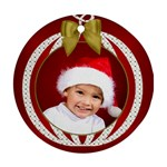 Christmas Round Ornament - Ornament (Round)