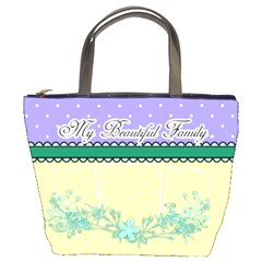 My Beautiful Family By Digitalkeepsakes   Bucket Bag   8drmhiwiaag7   Www Artscow Com Front
