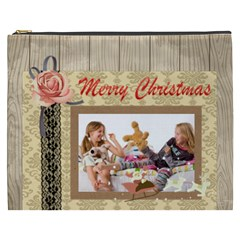 Merry Christmas By Betty   Cosmetic Bag (xxxl)   Jwae7qw3d2r9   Www Artscow Com Front