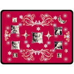 Red Starry Night Snowflake XL Blanket - Fleece Blanket (Large)