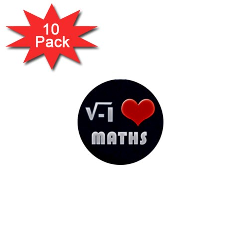 Ilove1 Pack By Matematicaula   1  Mini Button (10 Pack)    Nlpie9n1p38x   Www Artscow Com Front