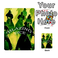 Blazing Dice  2 By Dave Docherty   Multi Purpose Cards (rectangle)   Ntzcbog2ih5q   Www Artscow Com Front 24