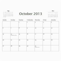 Cal 2013 By Shoshana   Wall Calendar 11  X 8 5  (12 Months)   0pr4myqbwnaq   Www Artscow Com Oct 2013