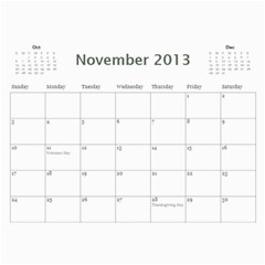 Cal 2013 By Shoshana   Wall Calendar 11  X 8 5  (12 Months)   0pr4myqbwnaq   Www Artscow Com Nov 2013