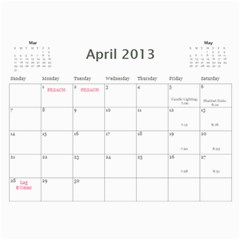 Cal 2013 By Shoshana   Wall Calendar 11  X 8 5  (12 Months)   0pr4myqbwnaq   Www Artscow Com Apr 2013