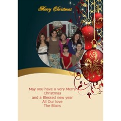 Red And Gold 3d Circle Christmas Card By Kim Blair   Circle 3d Greeting Card (7x5)   Scw1e1d12tdt   Www Artscow Com Inside