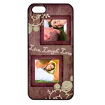 Pink Live, Laugh, Love iPhone 5 Case - Apple iPhone 5 Seamless Case (Black)