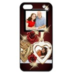 Red Roses bling iPhone 5 Case - Apple iPhone 5 Seamless Case (Black)
