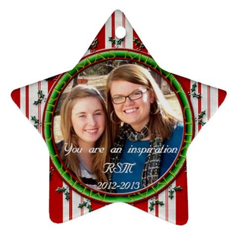 Alyssa  By Connie Jennings   Ornament (star)   Kgvi8u7cv1bv   Www Artscow Com Front