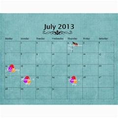 Mom s Calendar By Suzie   Wall Calendar 11  X 8 5  (18 Months)   2aglbl6vel8v   Www Artscow Com Jul 2013