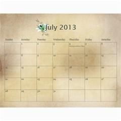 Dedushka Loni By Joyfulviktory   Wall Calendar 11  X 8 5  (12 Months)   G918039u8juu   Www Artscow Com Jul 2013