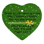 heart children min annette varnado - Ornament (Heart)