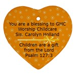 heart children sis holland - Ornament (Heart)