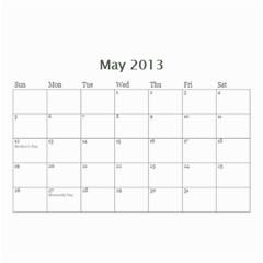 My Cal By Belinda Johnson   Wall Calendar 8 5  X 6    7oeui9lkh689   Www Artscow Com May 2013