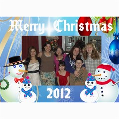 Snowman Family Christmas Card 2 By Kim Blair   5  X 7  Photo Cards   Zq6zmwy5s8xo   Www Artscow Com 7 x5 Photo Card - 1