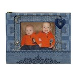 Cute Denim XL Cosmetic Bag - Cosmetic Bag (XL)