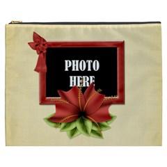 Happy Holidays Xxxl Cosmetic Bag 3 By Lisa Minor   Cosmetic Bag (xxxl)   Hpbnbkzilahu   Www Artscow Com Front