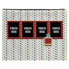Happy Holidays Xxxl Cosmetic Bag 3 By Lisa Minor   Cosmetic Bag (xxxl)   Hpbnbkzilahu   Www Artscow Com Back