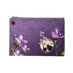 Elegance Purple Cosmetic Bag (l)  By Joanne5   Cosmetic Bag (large)   9r50f9d2ezi8   Www Artscow Com Front