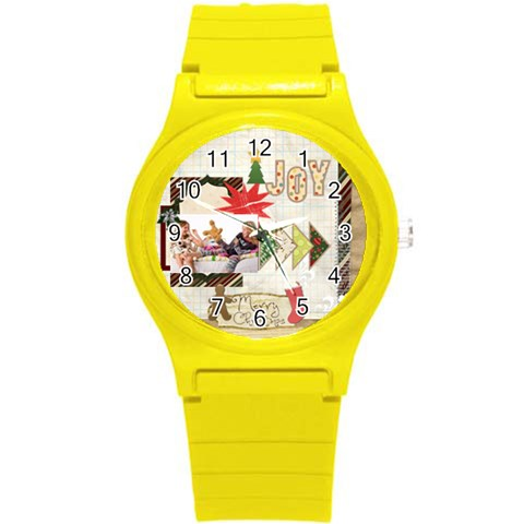 Merry Christmas By Betty   Round Plastic Sport Watch (s)   Ymo1niimtnf8   Www Artscow Com Front