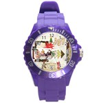 merry chrisrmas - Round Plastic Sport Watch (L)