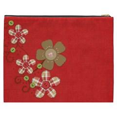 Sock Monkey Love Xxxl Cosmetic Bag 1 By Lisa Minor   Cosmetic Bag (xxxl)   6nm6vb8wtie2   Www Artscow Com Back