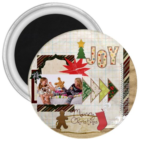 Merry Christmas By Betty   3  Magnet   Y0vjkkip4z8n   Www Artscow Com Front