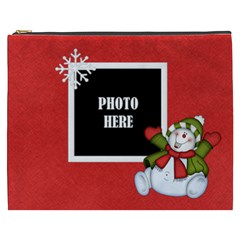 Five Little Snowmen Xxxl Cosmetic Bag 1 By Lisa Minor   Cosmetic Bag (xxxl)   Agm7qy101v83   Www Artscow Com Front
