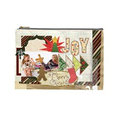 Merry Christmas By Betty   Cosmetic Bag (large)   8pw7hmh2yxg6   Www Artscow Com Front