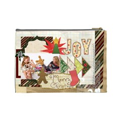Merry Christmas By Betty   Cosmetic Bag (large)   8pw7hmh2yxg6   Www Artscow Com Back