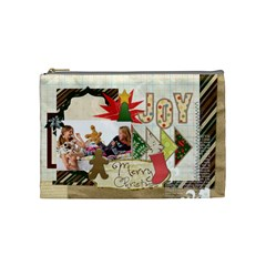 Merry Christmas By Betty   Cosmetic Bag (medium)   E2ekf9sqn2yv   Www Artscow Com Front