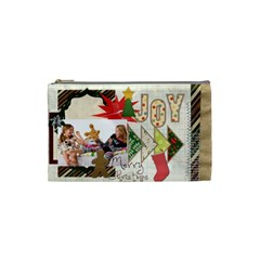 Merry Christmas By Betty   Cosmetic Bag (small)   C4tt59go2h2t   Www Artscow Com Front