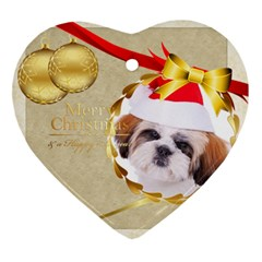 Merry Christmas By Betty   Heart Ornament (two Sides)   A320e12wuia9   Www Artscow Com Back