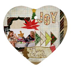 Merry Christmas By Betty   Heart Ornament (two Sides)   Gsmu8muyd8cc   Www Artscow Com Front