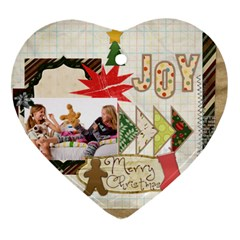 Merry Christmas By Betty   Heart Ornament (two Sides)   Gsmu8muyd8cc   Www Artscow Com Back