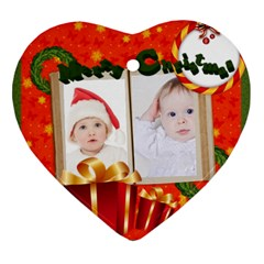 Merry Christmas By Betty   Heart Ornament (two Sides)   Op5qwlawmrmz   Www Artscow Com Back
