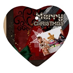 Merry Christmas By Betty   Heart Ornament (two Sides)   Jtktc0tenpbq   Www Artscow Com Front