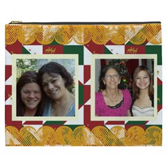 Christmas Quilt Cosmetic Bag (xxxl) By Kim Blair   Cosmetic Bag (xxxl)   0vehlbmaw0uk   Www Artscow Com Front